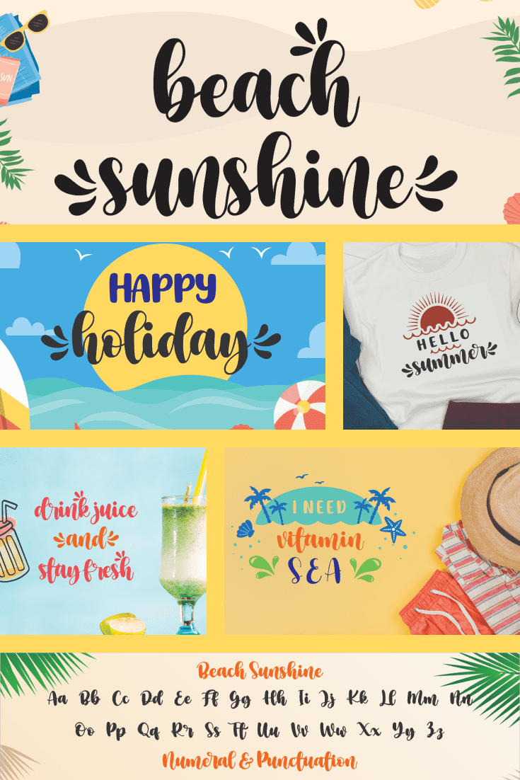 Driving summer font for hot days and sultry parties.