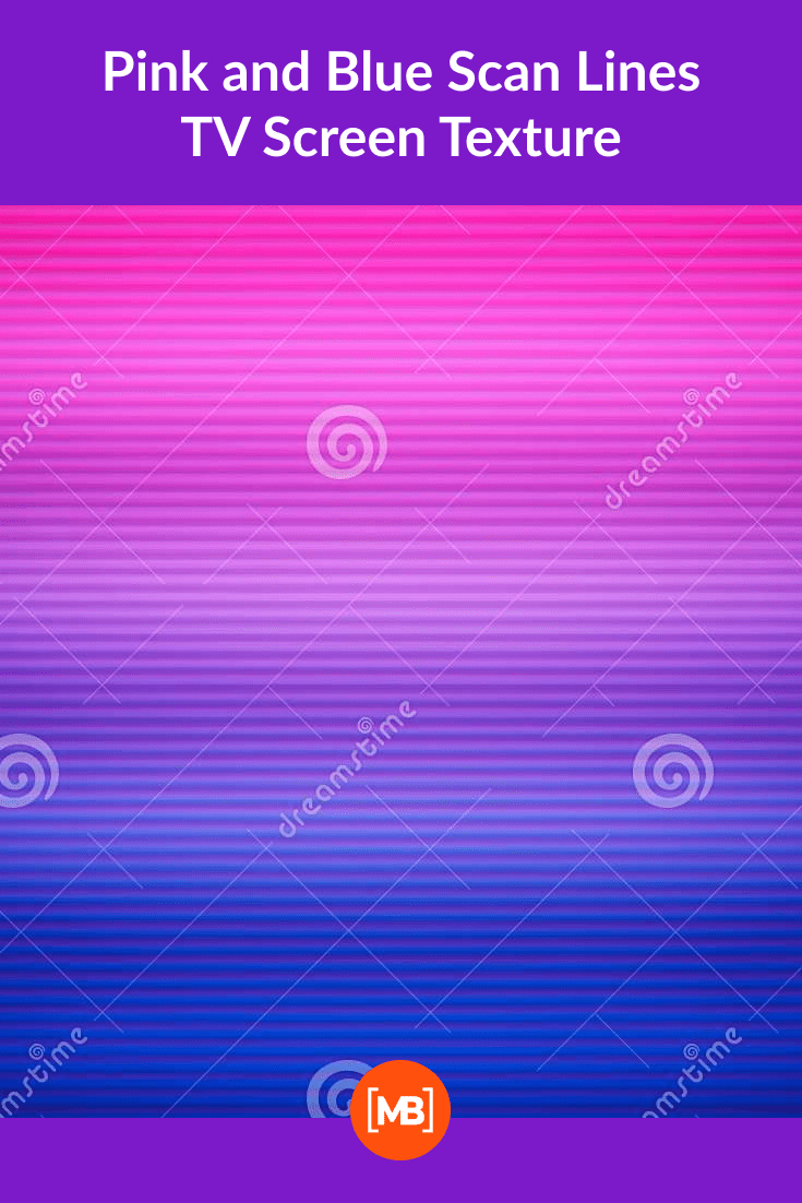 Pink and Blue Scan Lines TV Screen Texture.