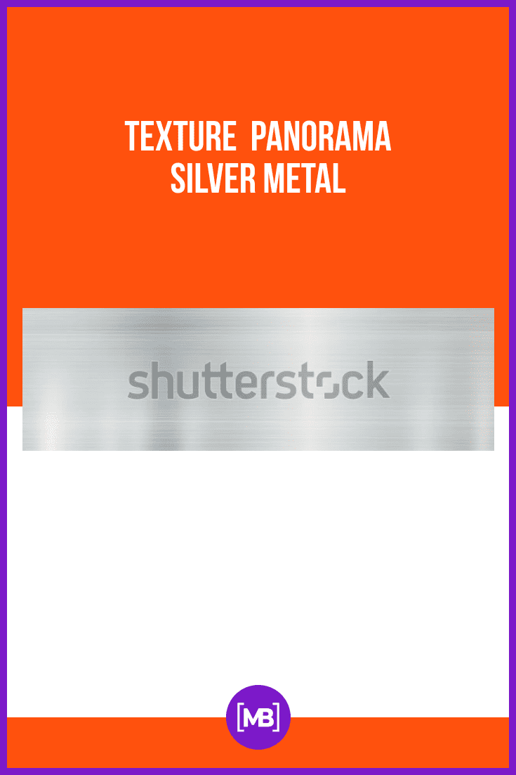 Texture panorama silver metal.