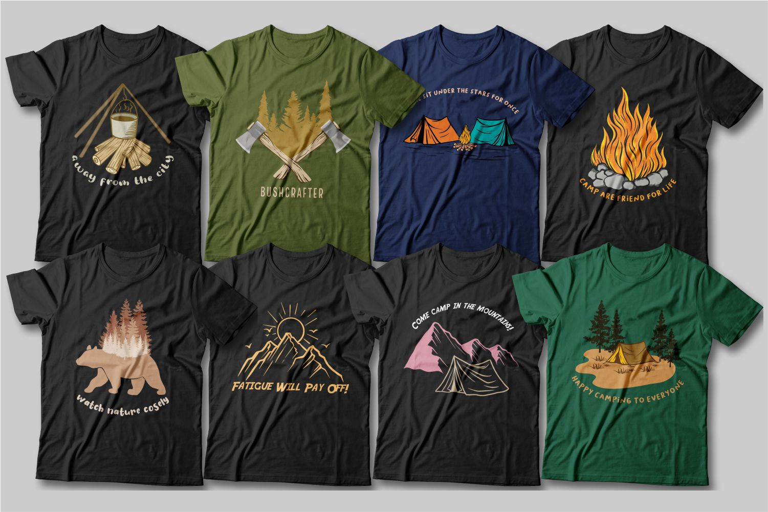 These T-shirts will become your favorites as they speak of mountains and nature.