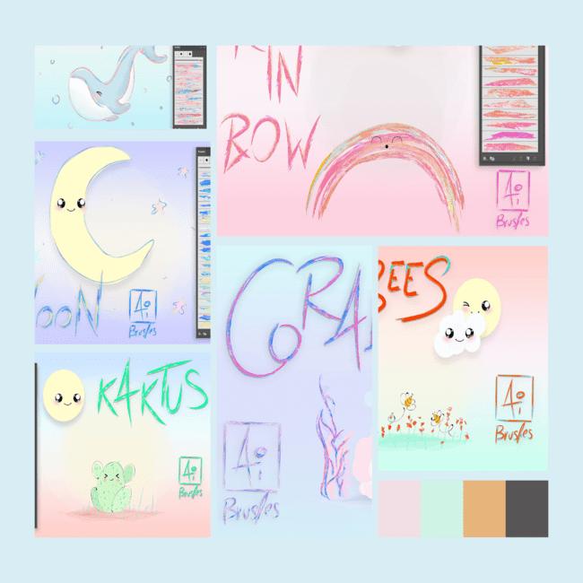 Art Brushes for Adobe Illustrator.