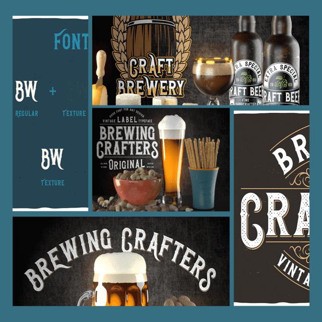 Beer font.