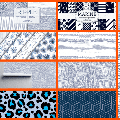 Best 15 Blue Patterns in 2021 Free and Premium Example.