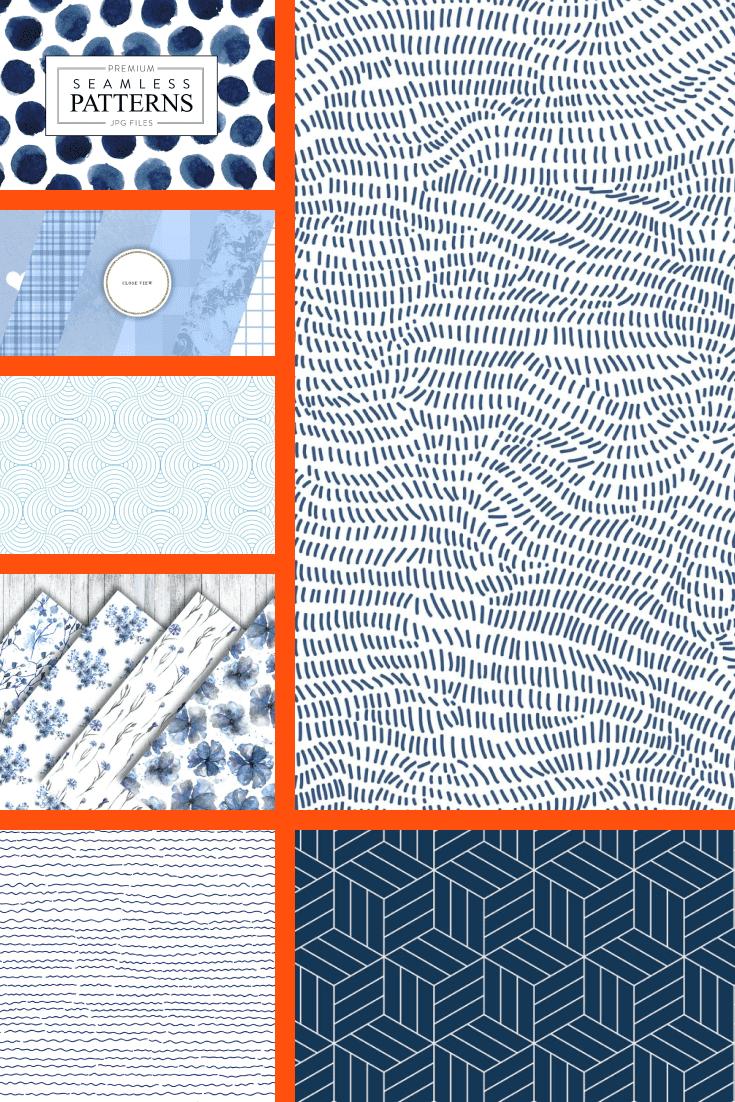 Blue Patterns Pinterest.