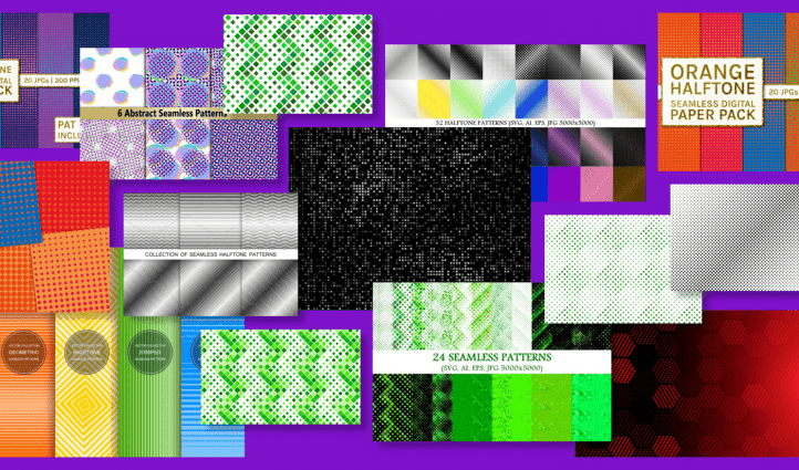 Best 15 Halftone Patterns in 2021 Free and Premium Example.