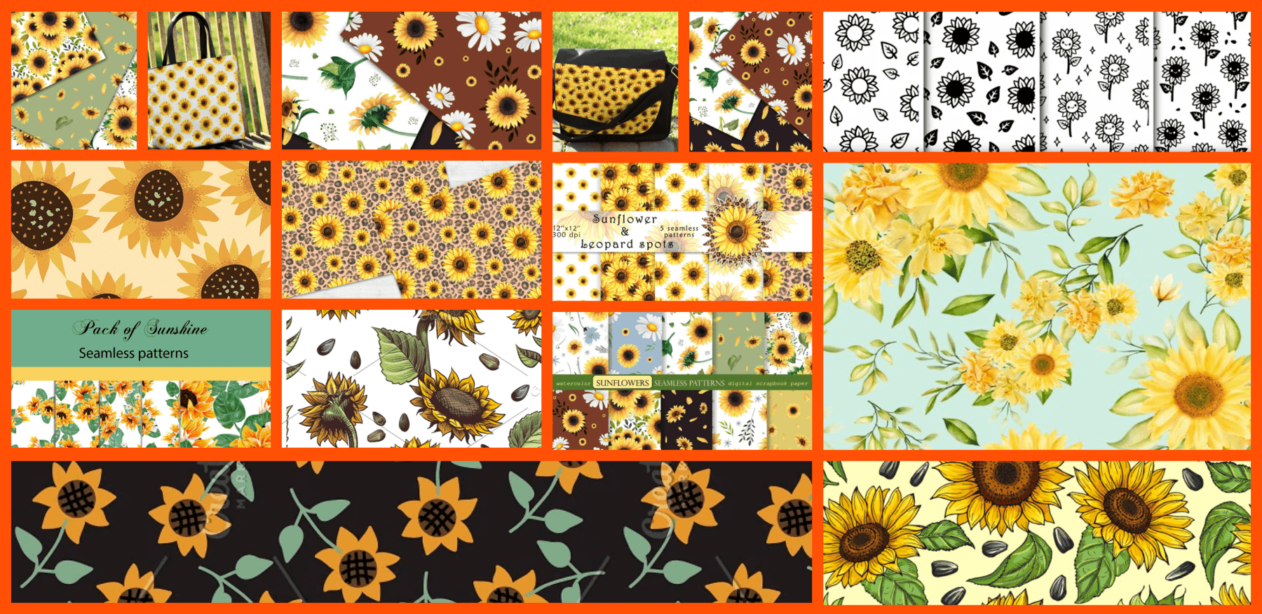 Best 15 Sunflower Pattern Images in 2021 Example.