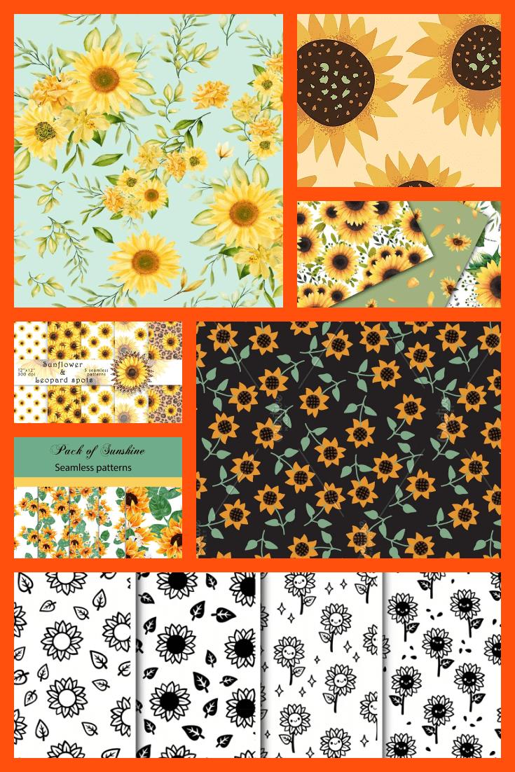 Sunflowers Patterns Pinterest.