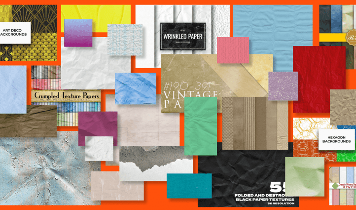 Folded Paper Textures Example.