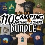 Camping nature and lovers bundle Cover main.
