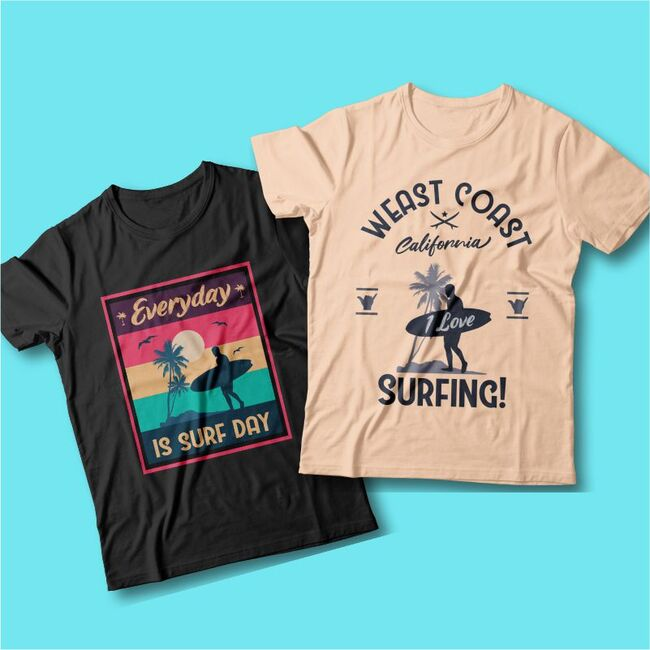 surfing t-shirts cover.