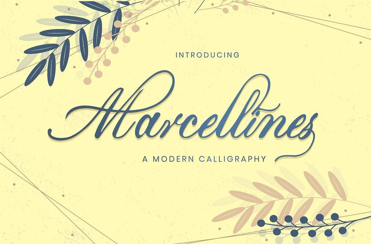 Sunny Mediterranean font with olive flavor.