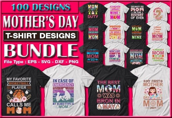 Mother's day t-shirts design bundle.