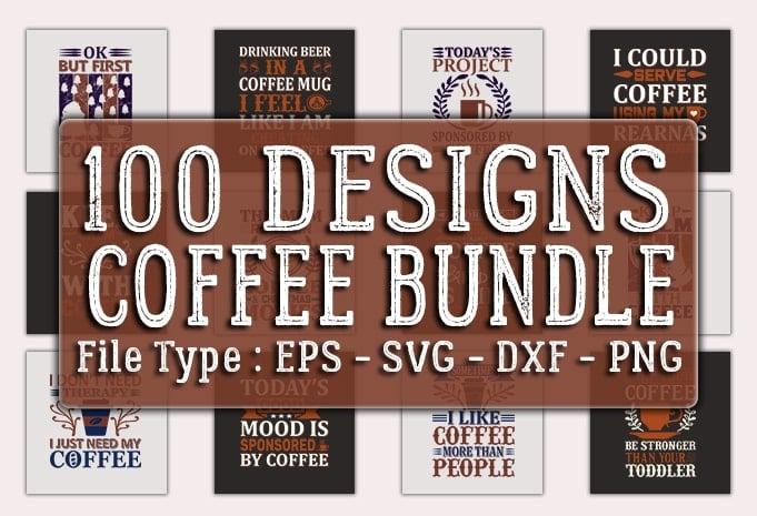100 designs coffee bundle