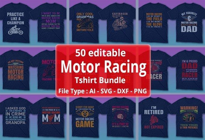 Motor racing t-shirt bundle.