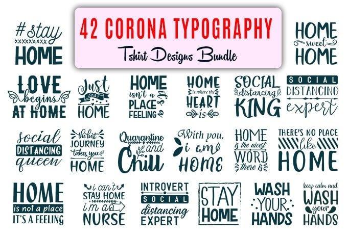 Corona typography.