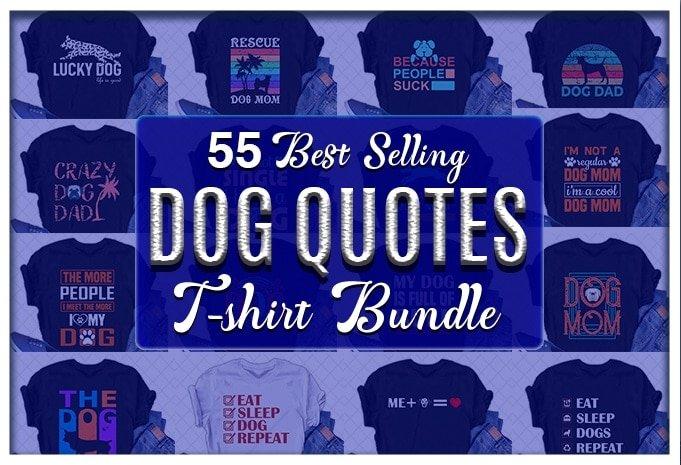 Dog quotes design bundles.