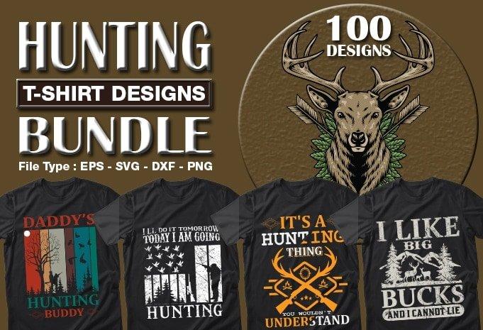 Hunting t-shirts design bundle.