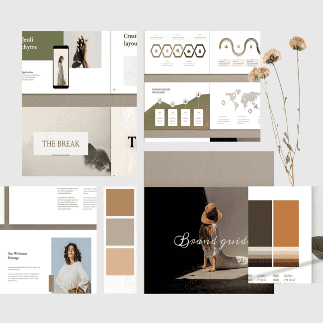 Merylin Brand Guidelines By MNML Agency in Templates cover.