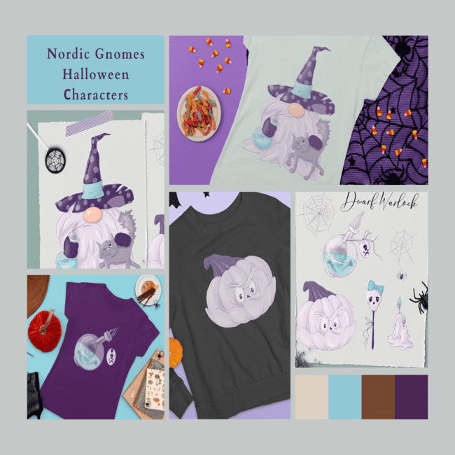 Nordic Gnomes Halloween Сharacters Cover.