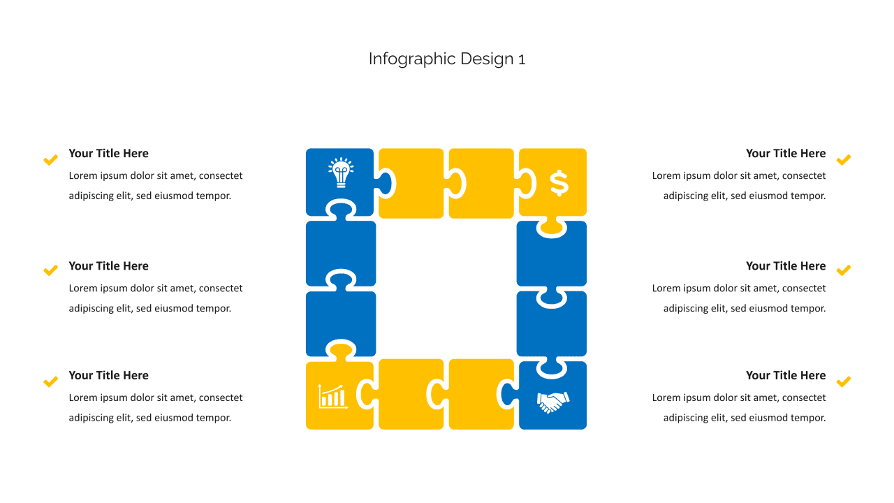 The infographics are presented in a jigsaw format with a description.