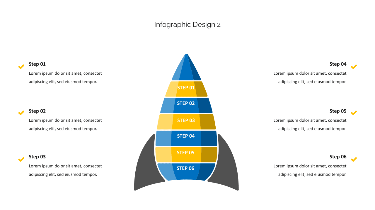 Rocket - infographics will grab the audience's attention.