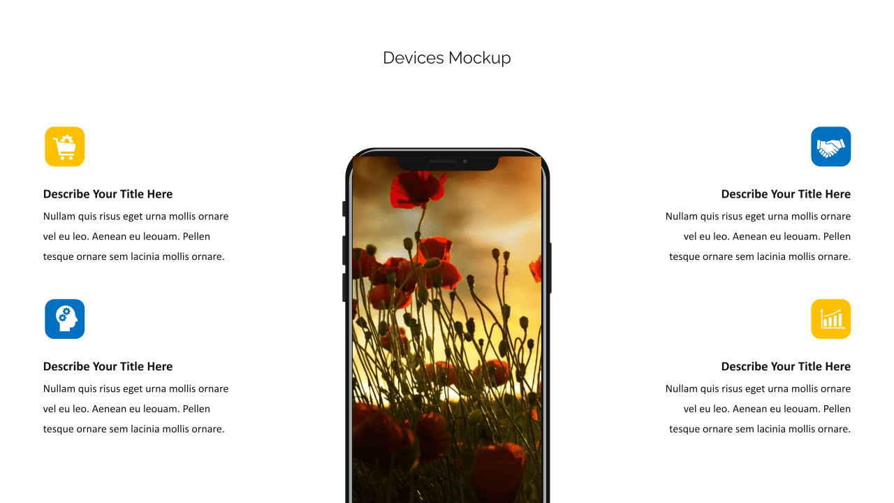 Display presentation in mobile version.