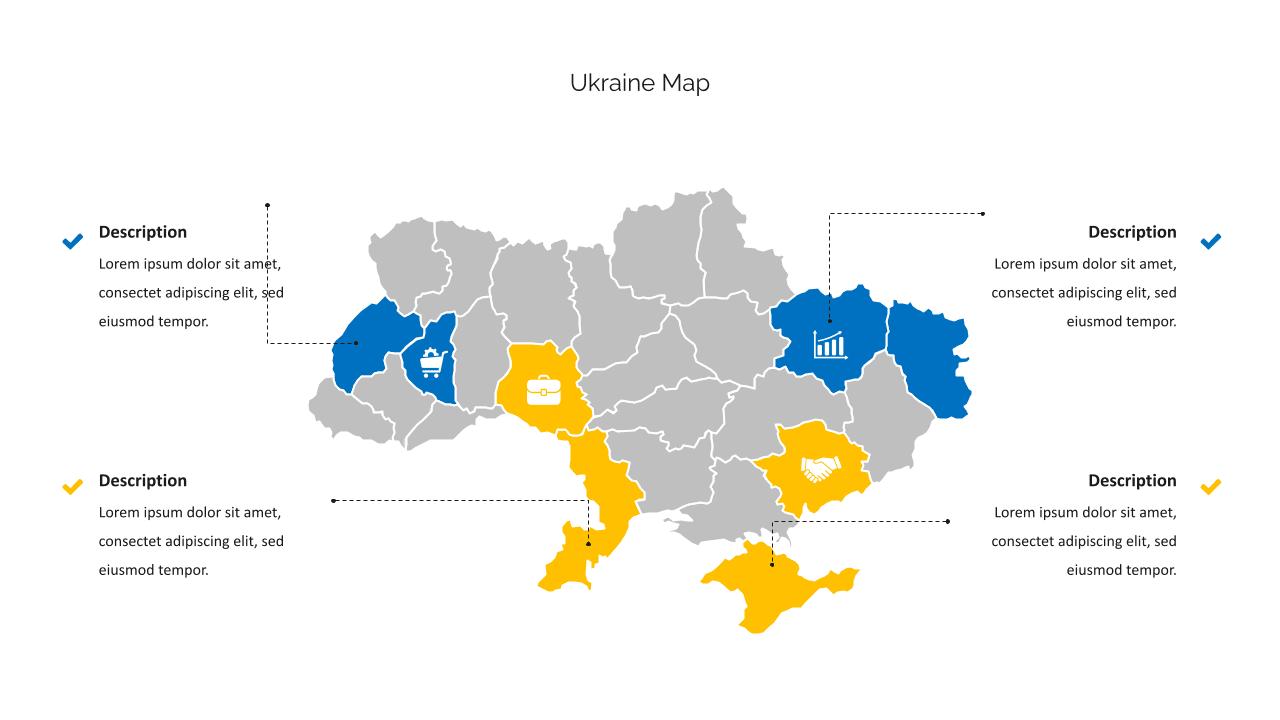 Ukrainian map.