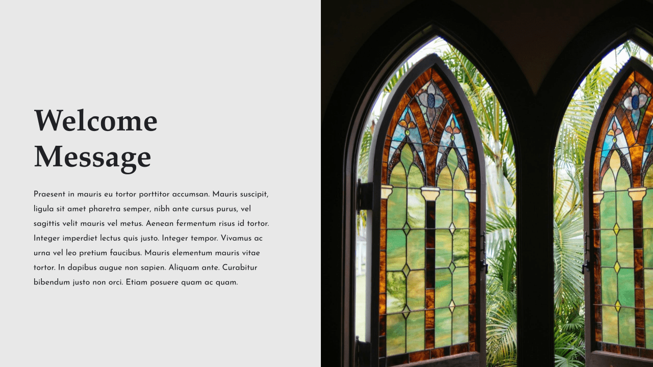 Stained glass windows set up a special atmosphere.