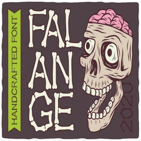 Anatomy Font: Falange Font cover.
