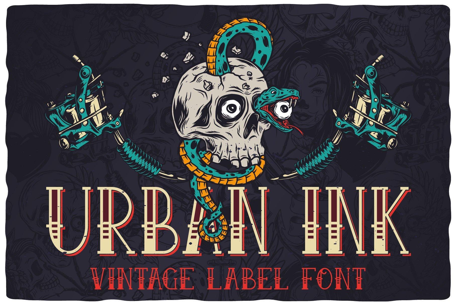 Urban link; vintage label font.