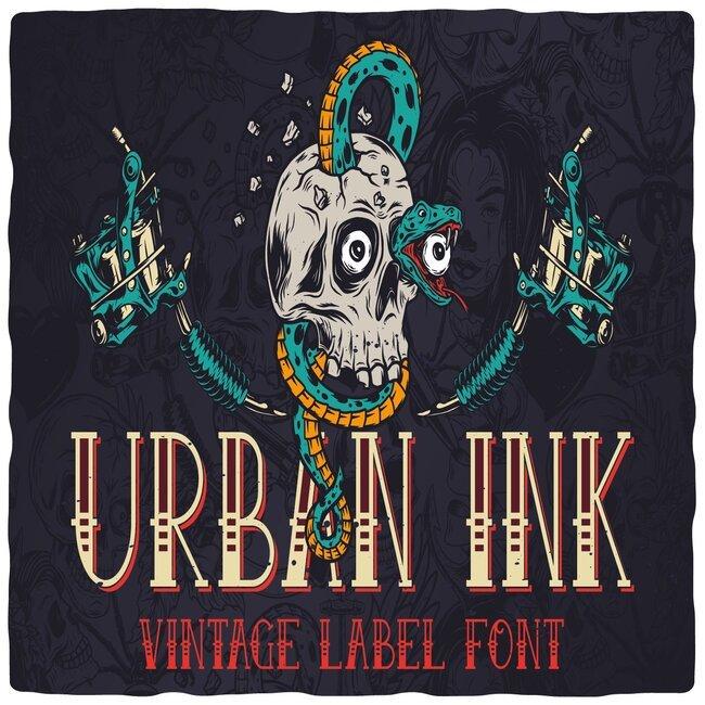 urbanink font cover.