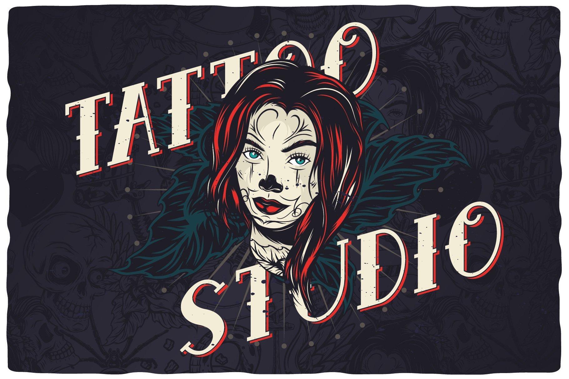Font for tattoo studio.