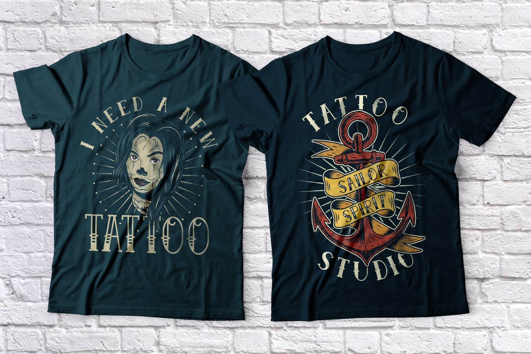 Themed T-shirts for tattoo artists.