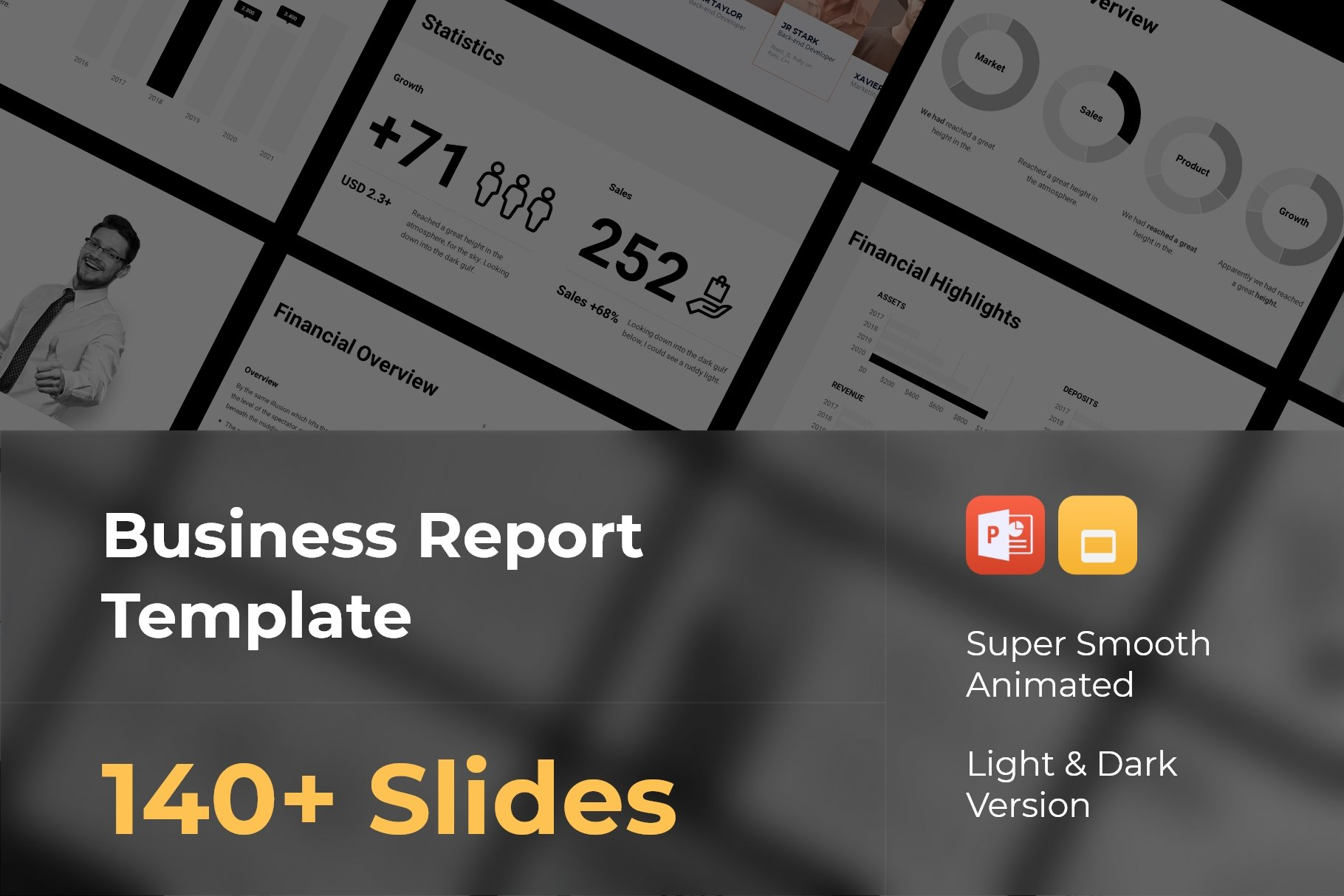 Business report template.