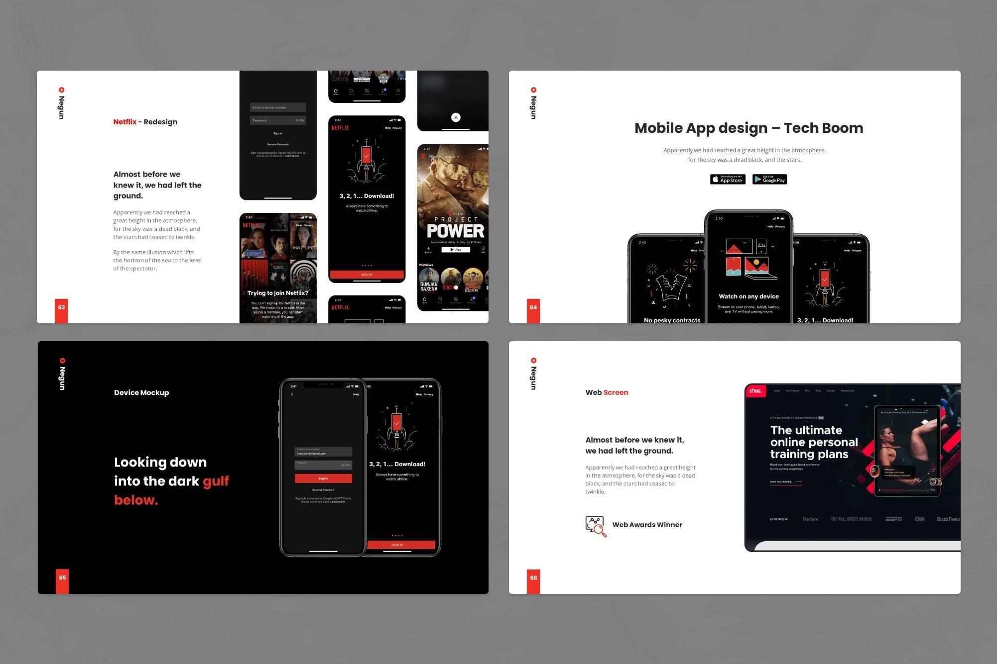 Mobile app design - tech boom.