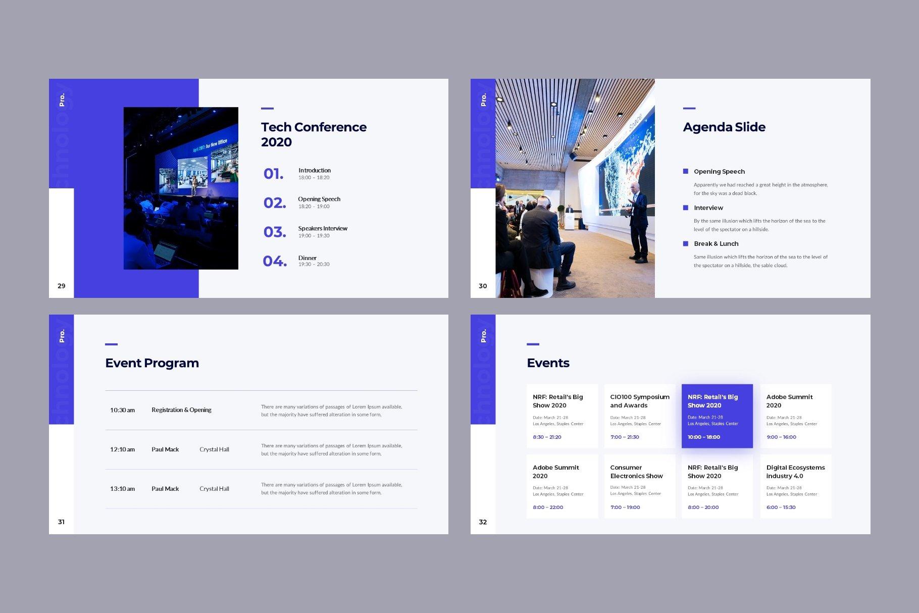Slide with program and agenda.