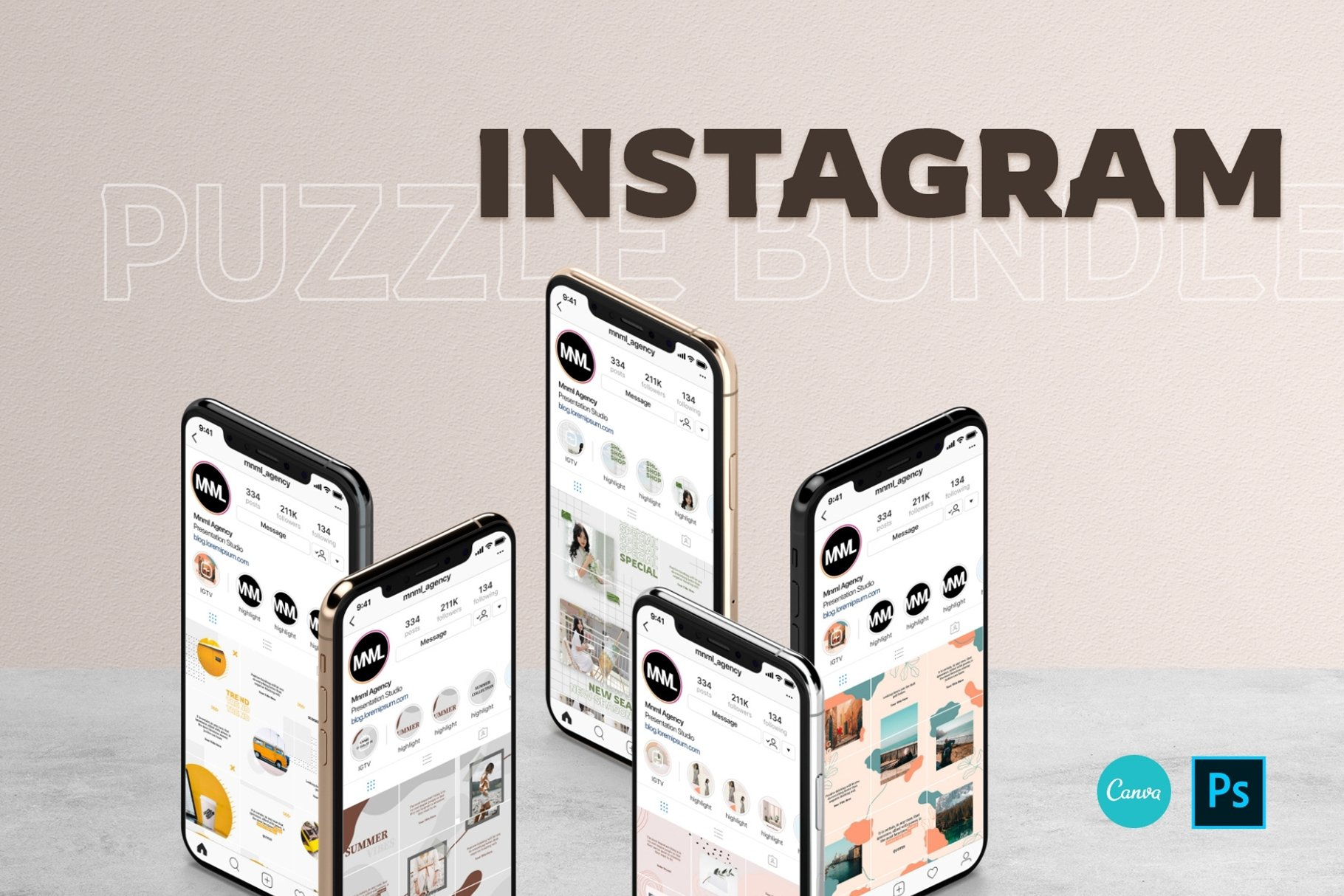 Instagram puzzle bundle.