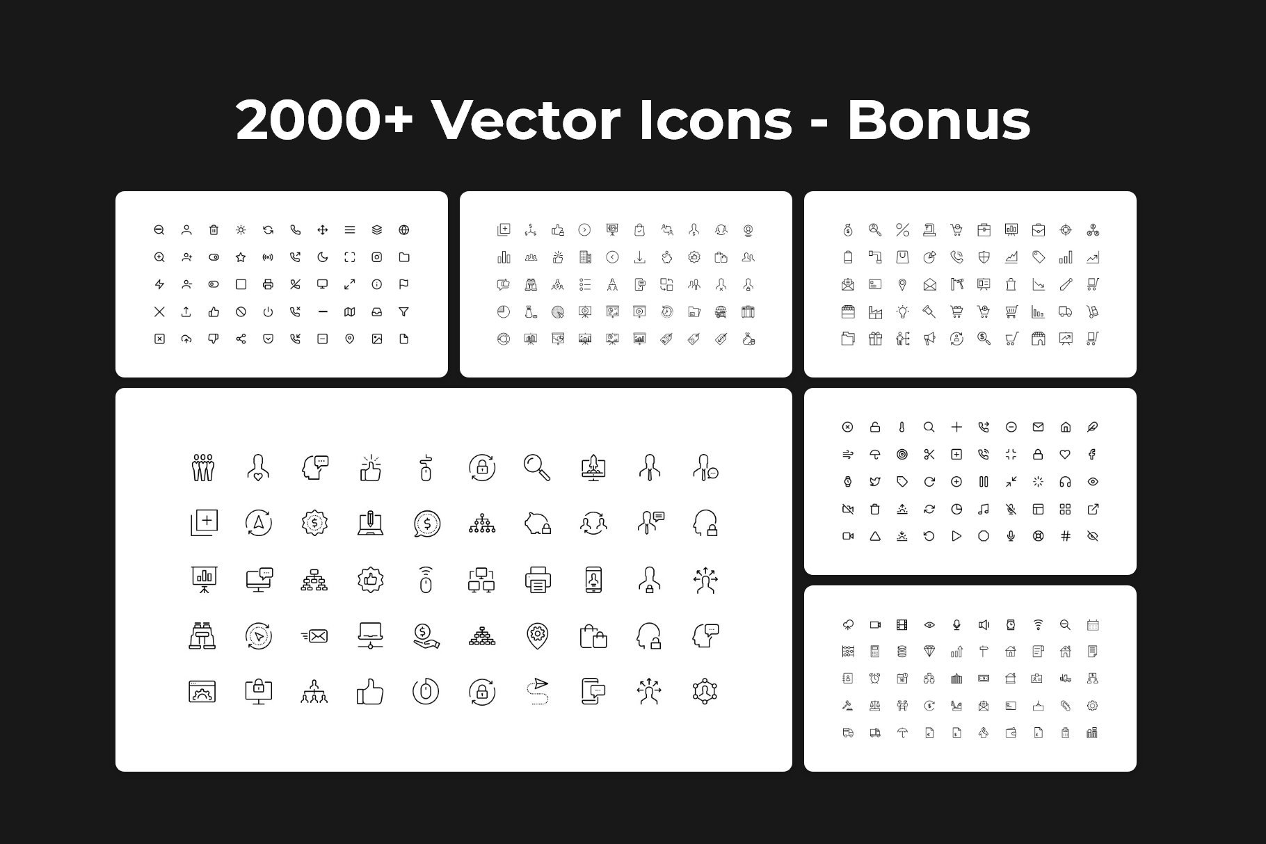A lot of vector icons.