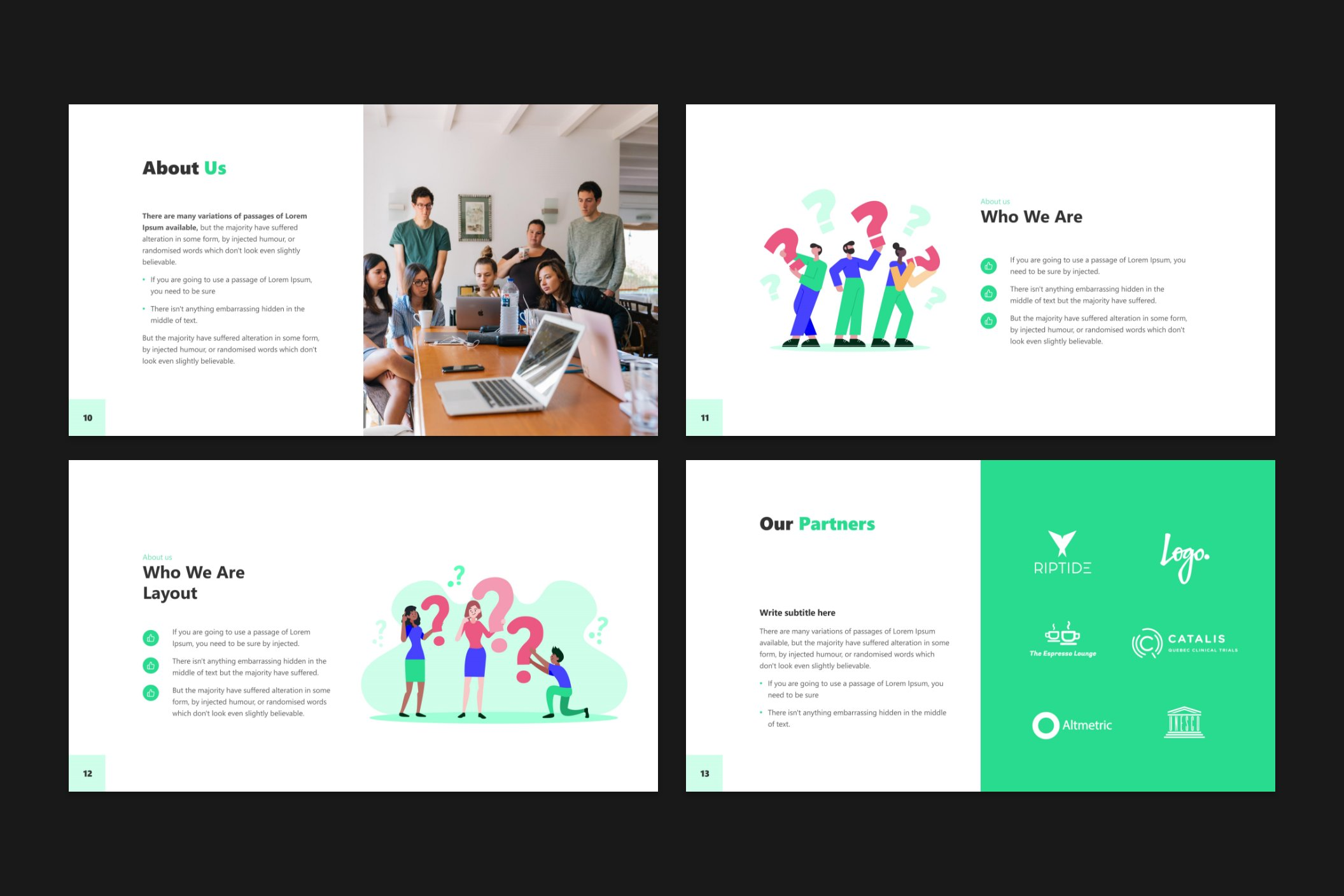 The presentation is designed for a project that has a story to tell.