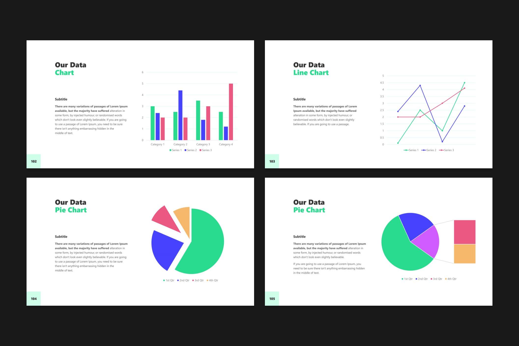 Data charts.
