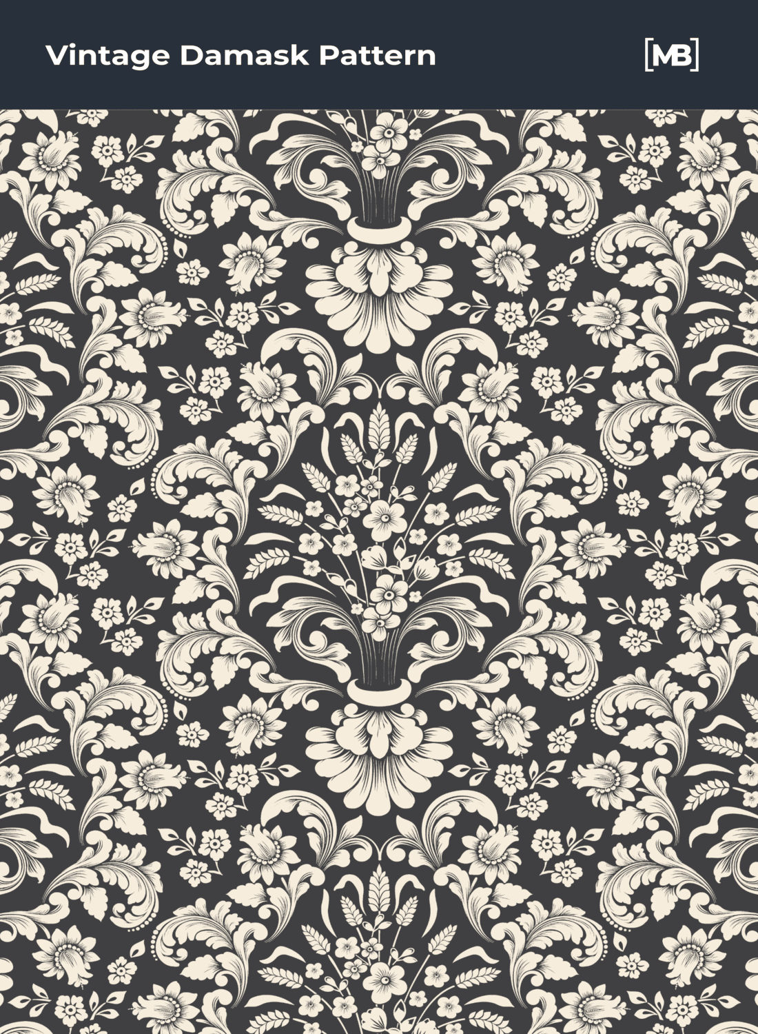 Baroque flowers style with extra details.