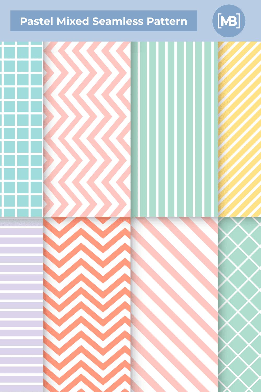 Pastel mixed seamless pattern.