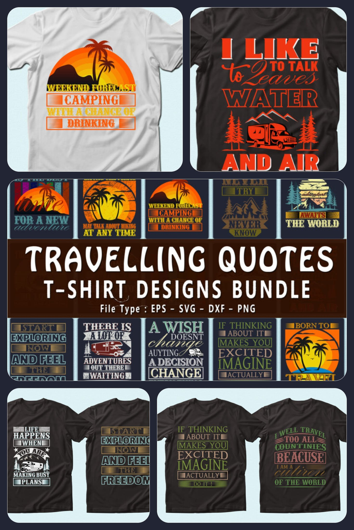 Traveling t-shirts for vacation.