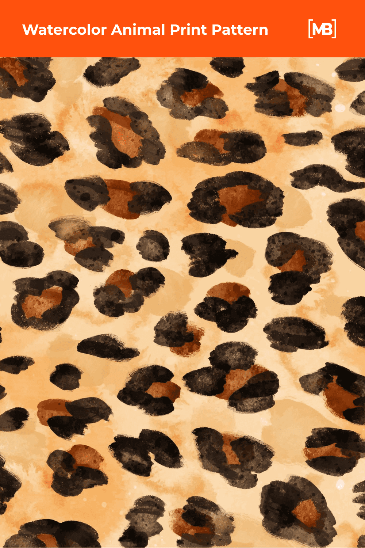 Watercolor animal print pattern.