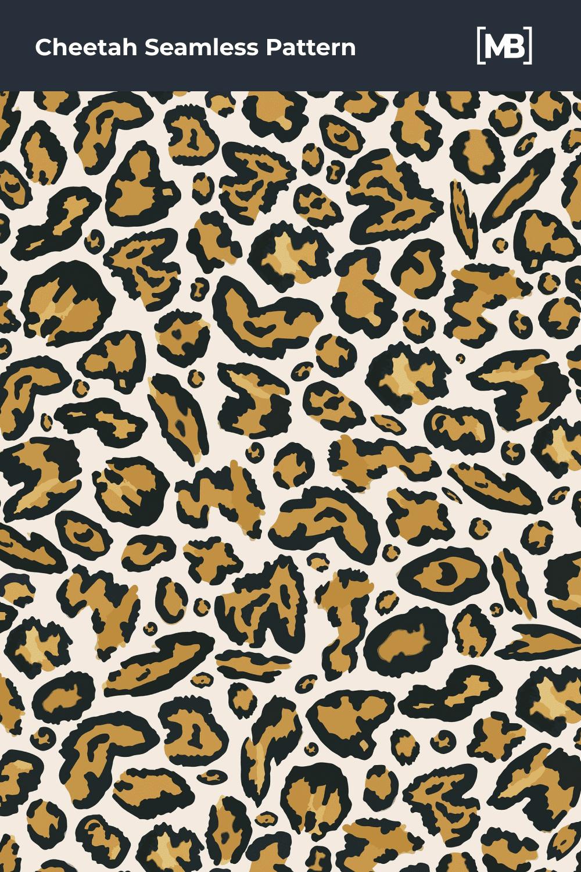 Cheetah animal skin pattern.