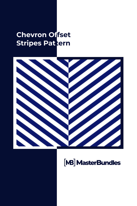 Chevron offset stripes pattern.