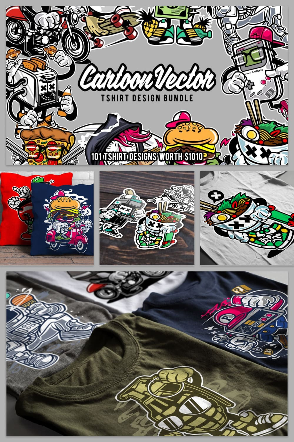 T-shirt Designs with live food.