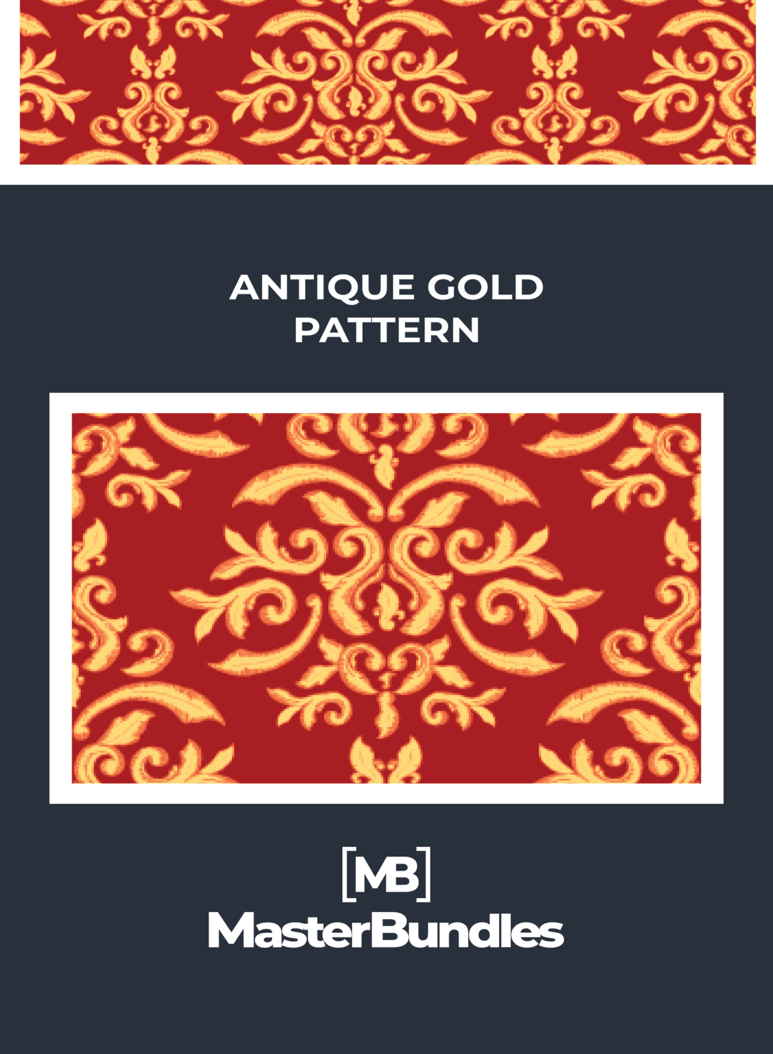 Red and golden created a unique style.