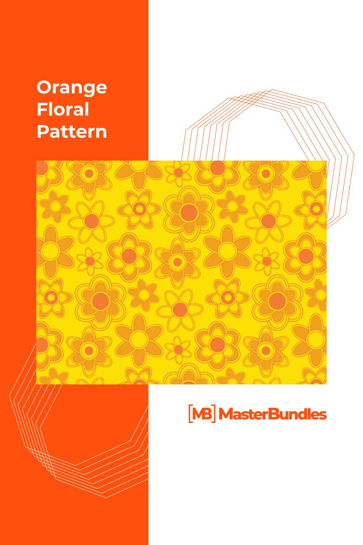 Orange flowers on the yellow background.