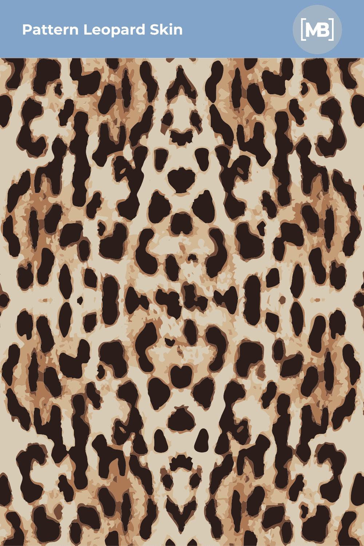 Leopard Skin like real.